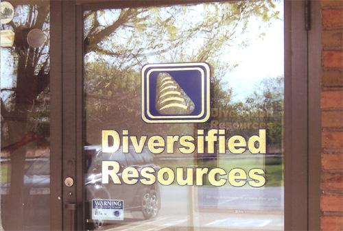 Diversified Resources window lettering.