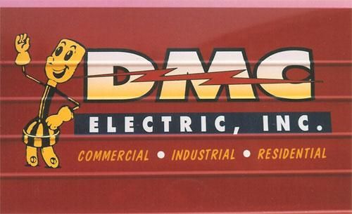 DMC Electric box truck lettering and graphics.