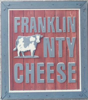 Franklin County Cheese dimensional sign.