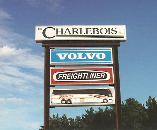 Charlebois trucking sign cabinets.