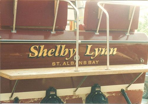 Shelby Lynn boat graphics.
