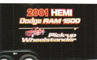 Hemi Dodge Ram racing trailer graphics.