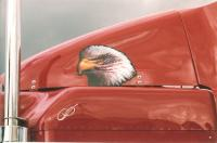 Eagle on firetruck digital graphics.