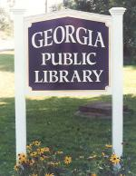 Georgia Library wood sign.