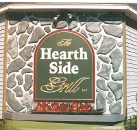 Hearth Side restaurant carved sign w/23k goldleaf