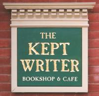 Kept Writer carved sign.