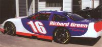 Richard Green #16 race car graphics.