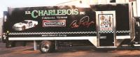 Charlebois racing team trailer graphics.