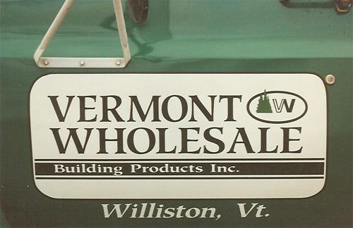 Vermont Wholesale Builders magnetic sign
